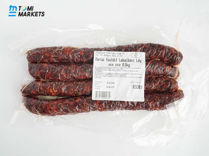 Xúc xích Hun Khói Hartai Fustolt LoKolbasz thịt ngựa được nhập khẩu chính hãng từ Hungary